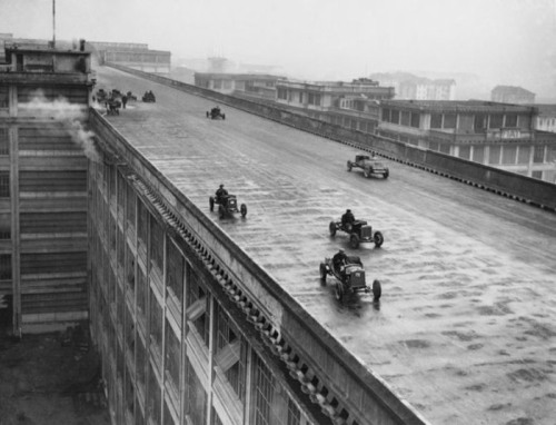 FIAT's test-track above its factory in Lingotto, Turin