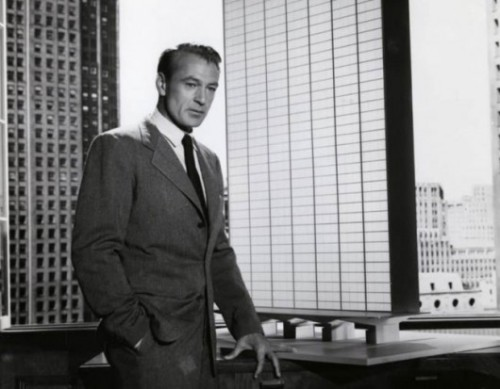 Gary Cooper as Howard Roark in a film adaptation of The Fountainhead. Via Courtesy King Vidor, The Fountainhead (Warner Brothers, 1949).. Image Courtesy of Metropolis Magazine