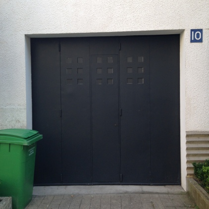 Modernist garage door, Rue Mallet-Stevens