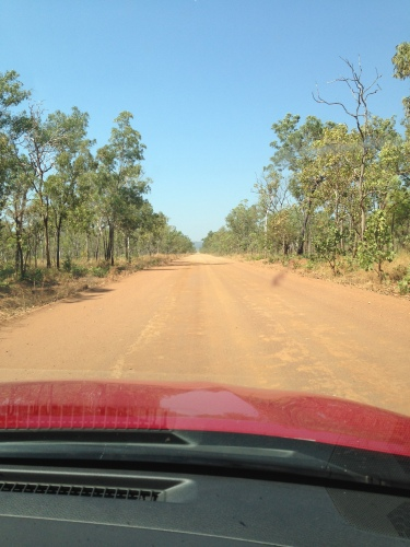 Kakadu side  road