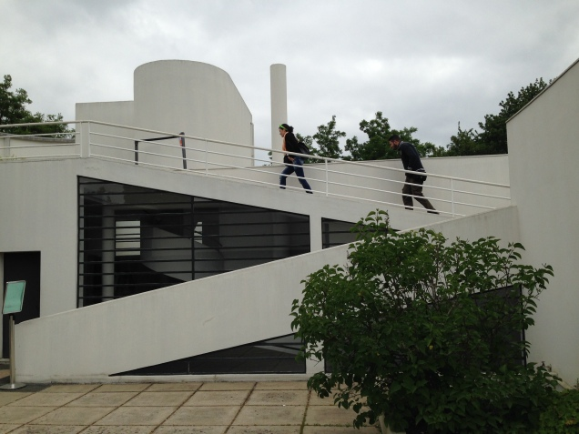 ramp to upper terrace