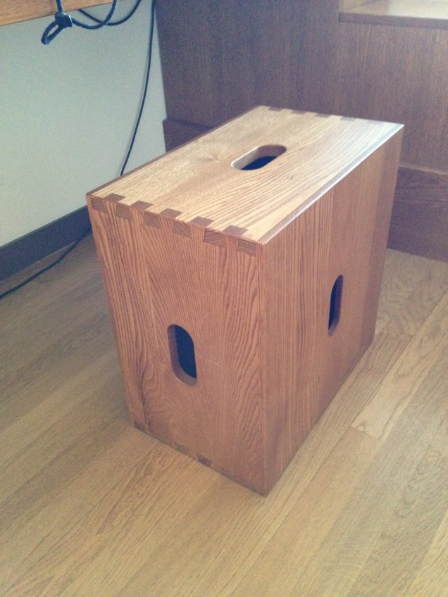 whisky crate stool