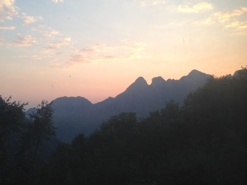 sunrise at Wudangshan