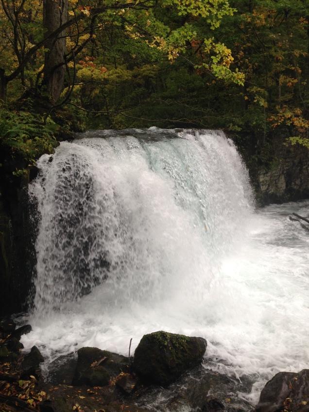 a Japanese waterfall