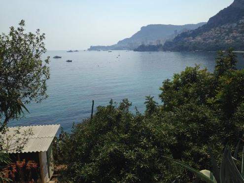 looking over Ed's 'office' towards Monaco