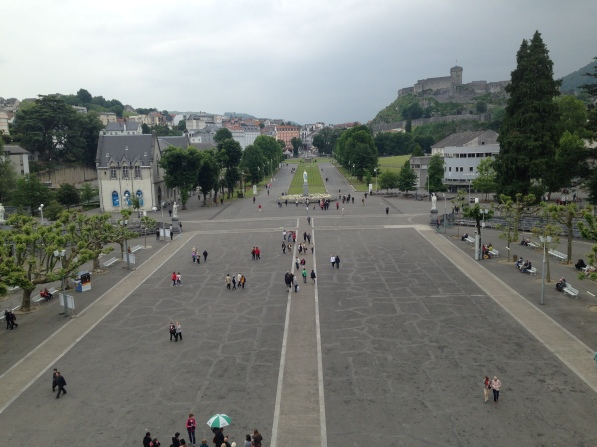 Lourdes, from the Basilica