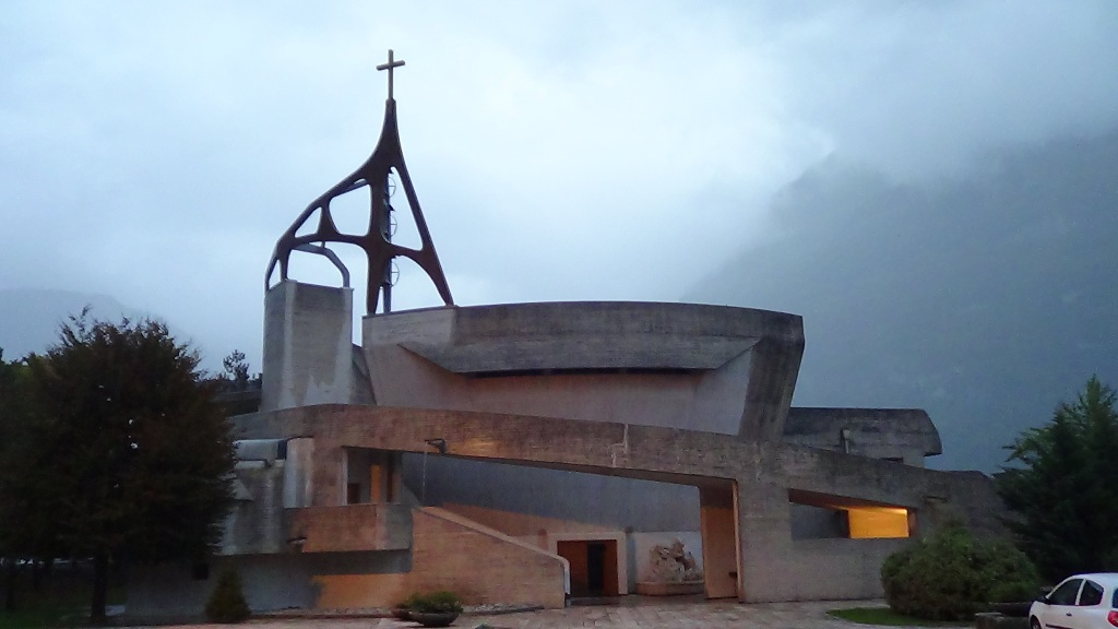 The church at Longarone by Giovanni Michelucci