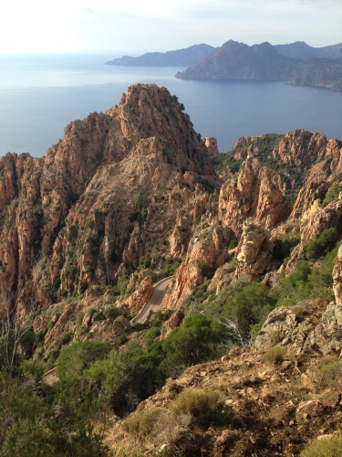 the calanques on Corsica's west coast