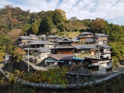 a hillside village