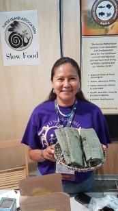 Hopi blue bread at Terra Madre