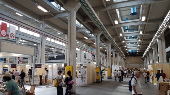 inside the Terra Madre exhibition area