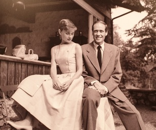 Audnry Hepburn with husband Mel Ferrer at the Bürgenstock